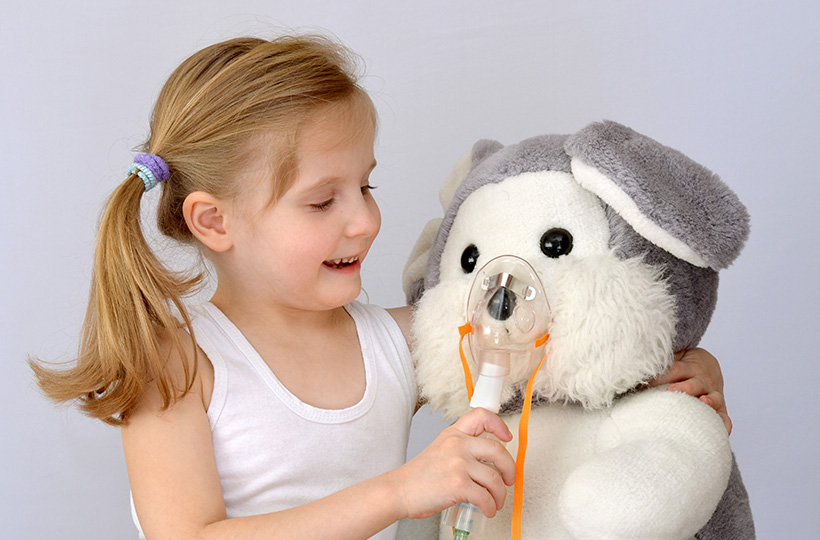 Mit Kind inhalieren